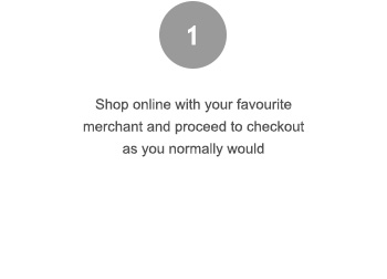 Shop Online with your favorite merchant and proceed to checkout as you normally would